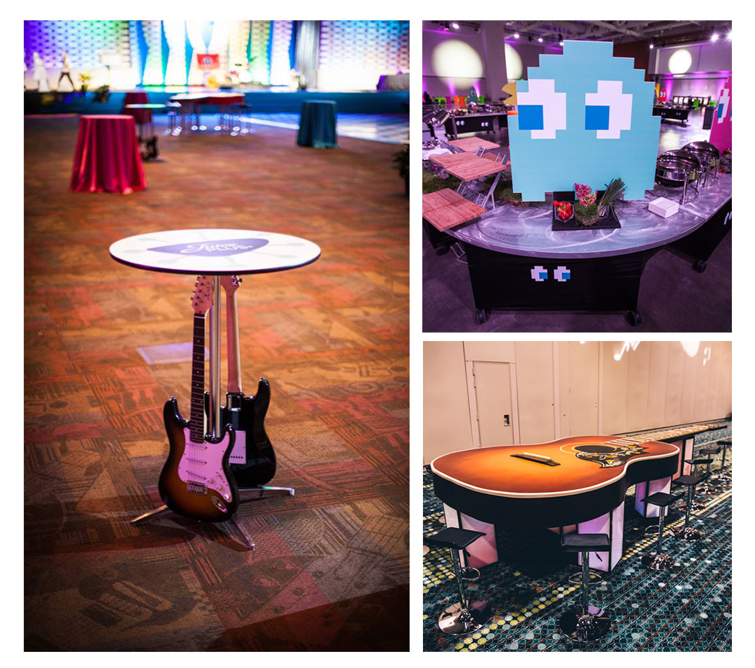 Ghosts and Guitars Tables and Centerpieces Decor Gary Musick Productions