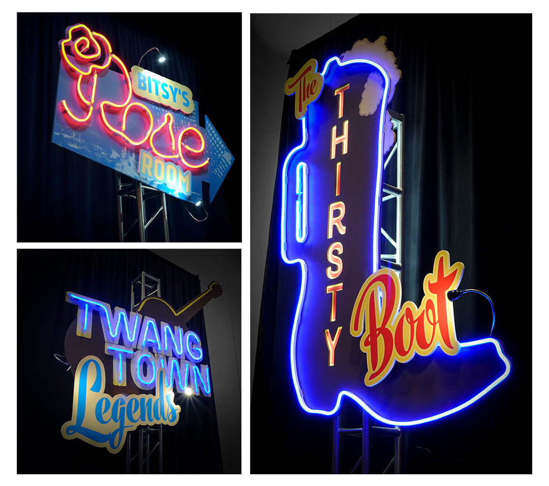 Nashville Honky Tonk Neon Signs Gary Musick Scenic and Decor