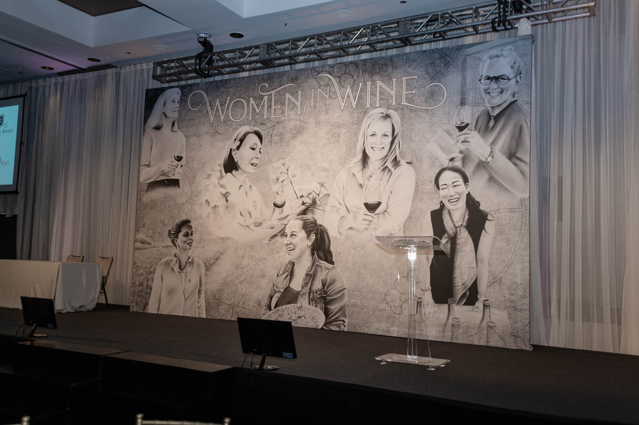Women in Wine Backdrop Nashville Wine Auction
