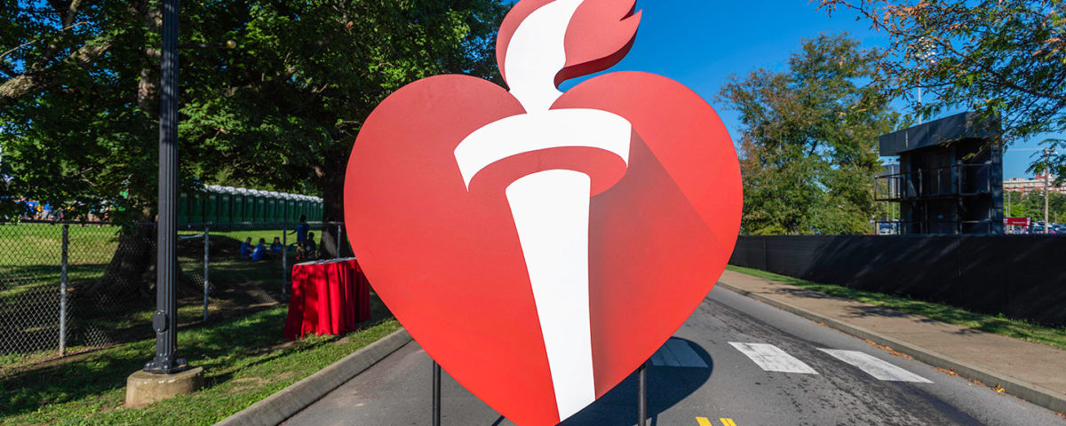 Heart Walk 3D Sign