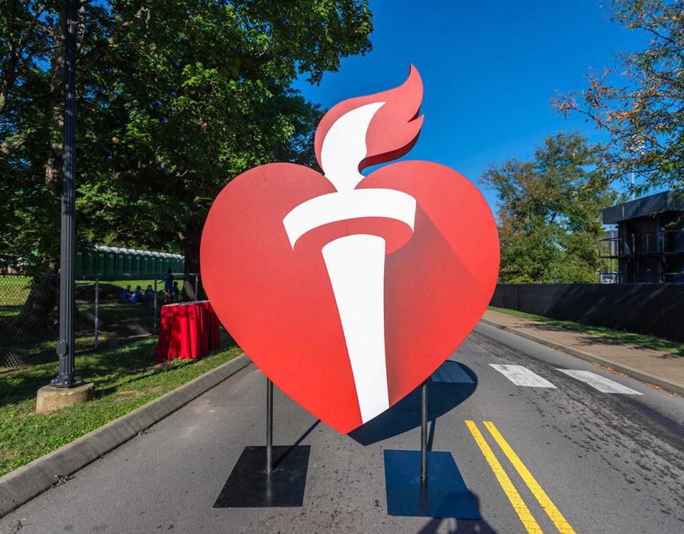 Heart Walk 3D Sign