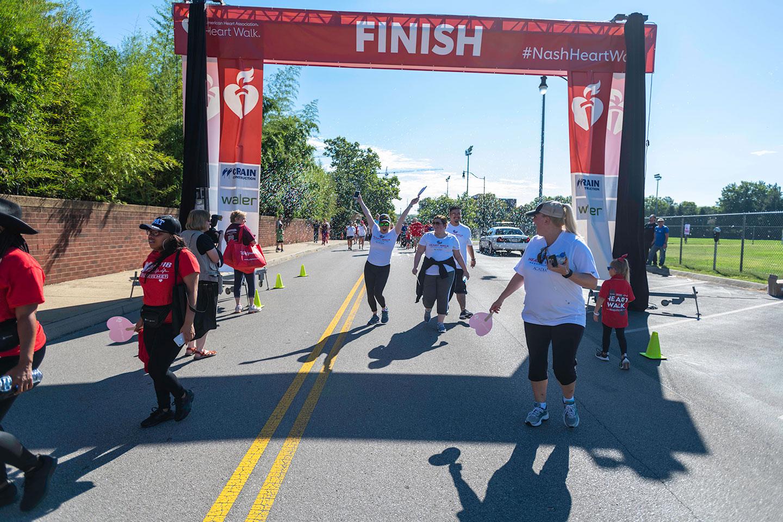 Heart Walk Finish Line Celebration