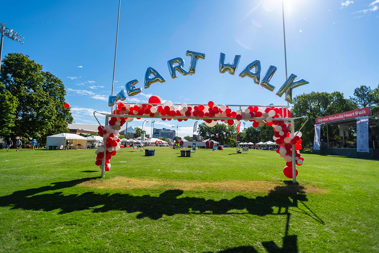 Heart Walk Balloon Entrance